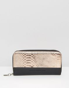 French Connection Wallet With Mock Croc - $34.00
