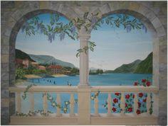 Trompe L 39 Oeil Pace Tropicale Cm 90x150 Dipinto A Mano Da Max E Elena Panizza
