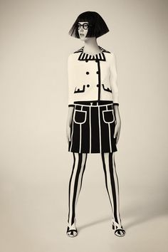 Black and White Mod Fashion Shirley Kurata for Paper Magazine