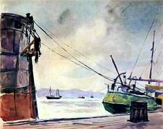 Murmansk. The polar night. - Pyotr Konchalovsky