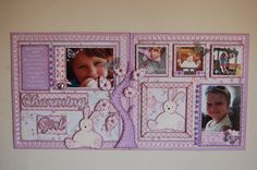 """Charming Girl""double page scrapbook layout by Jamie Penson.  jamieshappyscrapping@blogspot.com"