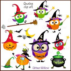 ******************************************************************************************************  Owlish Halloween - Png & Jpeg clip art