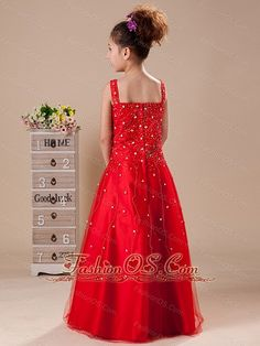 2013 special red-flower-girl-dress-tulle-fashionos.com  flower girl dresses for little girls,little girl dresses for weddings,pageant dresses for toddler,girls pageant costumes,cupcake pageant dresses,easter dresses for little girls,girls pageant clothes,
