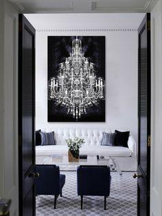 Accessorize The Room /Martine Haddouche/ Chandelier Picture, Chandelier  Art, White Chandelier,