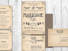 PRINTABLE INVITATIONS Vintage Wedding diy to print  by ABandIG, $25.00
