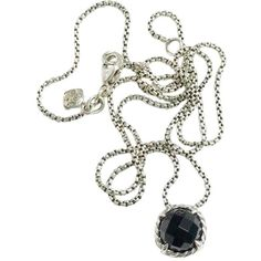 """David Yurman Black Onyx Faceted """"chatelaine"""" Necklace Tradesy (14,670 INR) ❤ liked on Polyvore featuring jewelry, necklaces, faceted necklace, david yurman jewellery, black onyx necklace, david yurman jewelry and david yurman necklace"""
