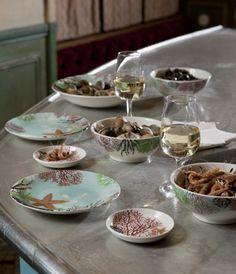 "Zastawa stołowa - Faïencerie de GIEN - ""Collection Océan"""
