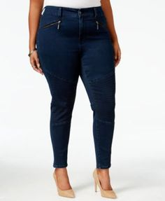 Melissa McCarthy Seven7 Trendy Plus Size Inkwell Wash Pencil Jeans $56.99 The seamed design of Melissa McCarthy Seven7's plus size jeans creates an even more flattering fit. Zipper pockets are a way chic update, too.