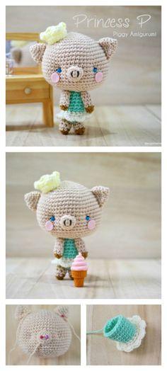 Crochet Princess Piggy Amigurumi Free Pattern