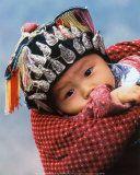 Miao Baby Wearing Traditional Hat Print by Keren Su  so cute