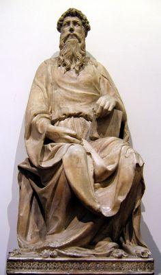 Donatello, San Giovanni Evangelista, 1408-1415, marmo, Duomo di Firenze, Museo dell'Opera del Duomo, Firenze