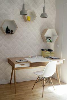 Arbeitszimmer skandinavisch einrichten minimalstische Möbel