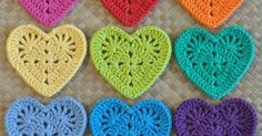Granny Heart Coaster N Motif | Breien | Pinterest | Babies clothes, Bags and Yarns