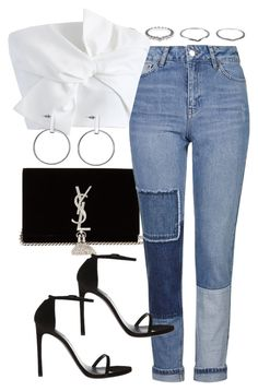 """Untitled #4001"" by amyn99 on Polyvore featuring Yves Saint Laurent, New Look, Topshop and Chicwish"