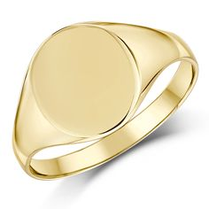 9ct Yellow Gold Oval Shape Ladies Signet Ring - Ladie's Signet Ring at Elma UK Jewellery
