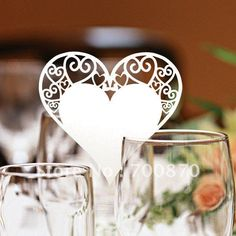 EC1108-11 12pcs/pack Laser Cutting Heart PlaceCard(color and pattern can be customized)(China (Mainland))