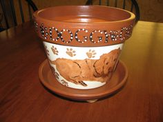 Dog Flower Pot by bubee on Etsy, $20.00