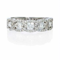 Banded diamond anniversary ring...WOW...so pretty!