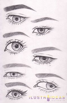 Do you want to learn to draw eyes? We teach you to draw eyes of anim . ¿Quieres aprender a dibujar ojos? Te enseñamos a dibujar ojos de personas anim… Do you want to learn to draw eyes? We teach you to draw eyes of lively people step by step. Eye Drawing Tutorials, Drawing Techniques, Drawing Tips, Art Tutorials, Drawing Ideas, Eye Sketch, Drawing Sketches, Art Sketches, Drawing Drawing