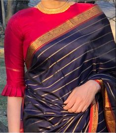 Latest designer blouse design - The handmade craft Pattu Saree Blouse Designs, Simple Blouse Designs, Stylish Blouse Design, Fancy Blouse Designs, Latest Blouse Designs, Indian Blouse Designs, Brocade Blouse Designs, Latest Saree Blouse, Designer Blouse Patterns
