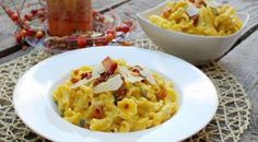 Pasta with Butternut Squash Alfredo Sauce