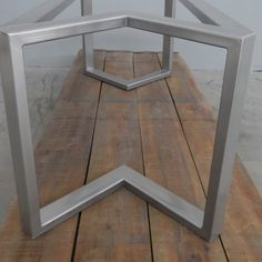 Metal Table Legs and Bases, Custom Metal Works by Balasagun Metal Table Legs, Dining Table Legs, Trestle Table, Dining Room, Wood Table Design, Steel Table, Custom Metal, Blue Walls, Accent Tables