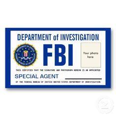 Police ID Cards Templates   ... template fbi badge sep 17, 2010 printable yugioh ca - badges templates