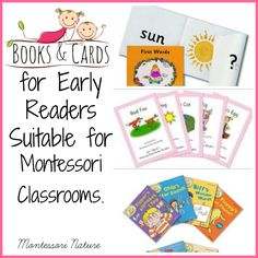 Montessori Nature: Books & Cards for Early Readers - Suitable for Montessori Classrooms.