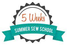 5 weeks - summer sew school for kids