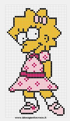 Lisa Simpson pattern by syra1974 on deviantART