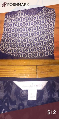 CHARMING CHARLIE- flowy tank NWOT never worn Charming Charlie Tops Tank Tops