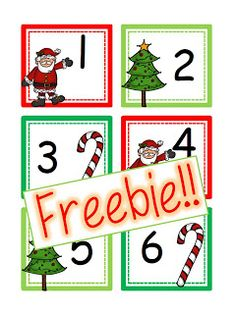 This is a set of Christmas calendar cards numbers with a Holiday Christmas card option! Also included are 2012 and 2013 year cards! These card. Kindergarten Calendar, Preschool Calendar, Classroom Calendar, In Kindergarten, December Calendar, Calendar Time, Calendar Ideas, January, Christmas Calendar