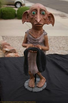 Full size Dobbie replica from Harry Potter  hamber of Secrets custom order from www.gryphonseggproductions.com/store.html or new commission at gryphonsegg@gmail.com #dobbie #harrypotter #movieprops