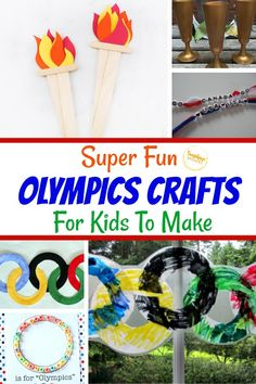 Olympic crafts for kids are super fun! These crafts are great for getting kids excited about the Olympics! Olympic games are so much fun and while your kids won't be competing, there are SO many fun crafts here that they can make! These crafts are all super EASY to make that even the youngest of your kids can take part in the fun! #crafts #craftsforkids #kidscrafts #olympics #olympiccrafts Do It Yourself Crafts, Crafts For Kids To Make, Crafts To Sell, Kids Crafts, Toilet Paper Roll Crafts, Paper Plate Crafts, Olympic Crafts, Olympic Games, Summer Diy