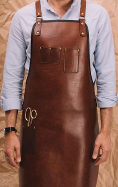 Blue & Grae Heavy Duty Leather Apron Baristas Apron Chef