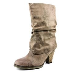 Mia Johnie Round Toe Synthetic Mid Calf Boot ** Click image for more details.