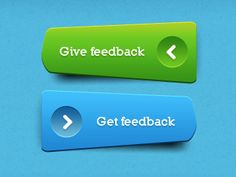 Unique Green & Blue Buttons w/ PSD