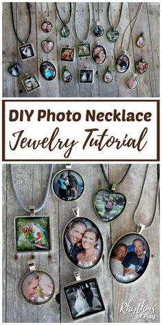 DIY Photo Necklace - Turn your favorite photographs into personalized jewelry with this unique handmade craft and gift idea. Use this easy jewelry making tutorial to create one-of-a-kind photo pendant keepsakes your family and friends will treasure. | #HomemadeGift #DIYGift #HandmadeGift #HowTo #JewelryMaking #DIYJewelry #MothersDayGift #MothersDayGiftIdea