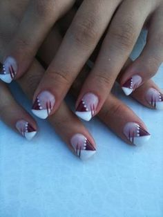 Beautiful nail art designs that are just too cute to resist. It's time to try out something new with your nail art. Nail Art Designs, Fingernail Designs, French Nail Designs, Pedicure Designs, Nails Design, Pink Nail Art, Gel Nail Art, Marion Nails, Nagellack Design