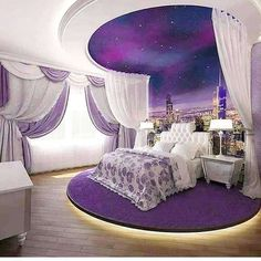 41 Greatest of Purple Bedroom Design Ideas - Bong Pret Your bedroom is your very private portion of your whole property. Nonetheless, despite your. A bedroom has to be a relaxing hideaway, therefore it i. Purple Bedroom Design, Fancy Bedroom, Purple Bedrooms, Luxury Bedroom Design, Girl Bedroom Designs, Girls Bedroom, Bedroom Black, Bedroom Neutral, Bedroom Ideas Purple