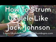 Jack Johnson Strum Pattern Tutorial - Easy Beginner Ukulele - How to strum like Jack Johnson Cool Ukulele, Ukulele Tabs, Ukulele Chords, Ukulele Songs Beginner, Uke Songs, Music Lessons, Guitar Lessons, Jack Johnson Songs, Elementary Music
