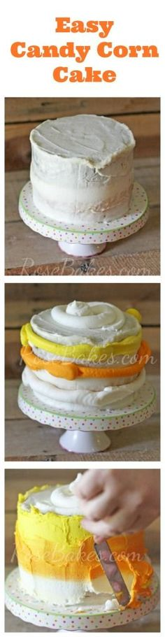 Easy Candy Corn Cake