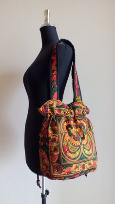 Ethnic handmade bag vintage style work beautiful,Boho Bags, Bohemian Handbags, Unique Bag. $18.99, via Etsy.