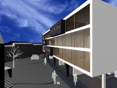 Edifício de habitação em V. Nova de Tazem (Gouveia) Portugal Simulação tridimensional Arquitetura: Nuno Ladeiro