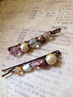 Beaded bobby pins by AdornTreasure on Etsy, $5.50