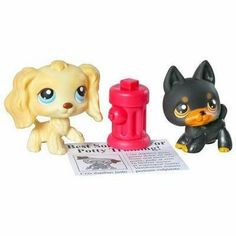 Littlest Pet Shop Pet Pairs Figures 2 Doggies Potty Training by Hasbro. $49.73. Welcome a little puppy love into your LITTLEST PET SHOP collection with these two adorable pooches! These young pets need some extra love and attention while they?re being potty trained. When mother nature calls, try tempting them on to the newspaper with the fire hydrant!    * Help these two pet puppies master potty training with a sheet of newspaper and a little red fire hydrant!