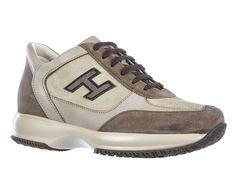 Hogan Interactive sneakers in vintage beige Leather - Italian Boutique €186