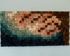 Hout Wall Art geometrische houten kunst mid door ArtGlamourSligo