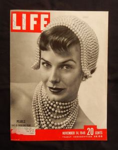 Life Magazine 1949 Novenber 14  Magazine Cover  Beautiful Color Illustration  excellent for framing