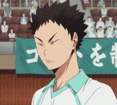 || AIRYUU ON PINTEREST || Haikyuu!! Second season; Iwaizumi Hajime cute face #anime #iwaizumi #iwaizumihajime #aoba #aobajosai